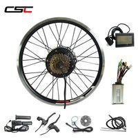 CSC Electric E Bike-Fahrrad-Konvertierungs-Kit Ebike-Kit Nabe Motorantrieb Vorderer Hinterradmotor 36V 500W E-Bike-Konvertierungskit mit LCD-Anzeige
