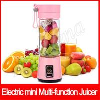 6 cuchillas Taza de Viaje USB Portátil Juicer Eléctrico Licuadora Juicer Recargable Botella de Verduras De Fruta Herramientas de Cocina 380 ml multifunción