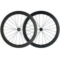 700C 55mm Profondeur 25 mm Largeur carbone 3K mat Wheelset Clincher Frein à disque Cyclisme sur route Vélo Roues Axle Thru / QR Brochettes