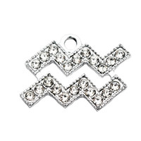 hot sale 20pcs lot aquarius With drill alloy Lobster Clasp H...