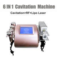 6 في 1 الموجات فوق الصوتية تجويف الجسم تشكيل آلة التخسيس تردد الراديو تردد الوجه رفع ليبو الليزر فراغ RF الجلد تشديد الوزن
