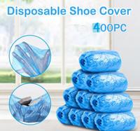 400PCS 방수 부팅 플라스틱 일회용 신발 커버 탄성 보호 주택 Overshoes가 안티 슬립 홈 도구 A40 커버