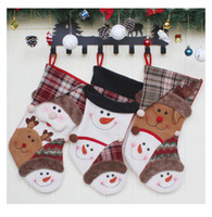 Chrismas Socking Geschenktüten Cute 3 Designs Animal Hand Making Crafts Weihnachtsbaum Anhänger Geschenktüte Dekor Candy Socks Festival Ornament 08