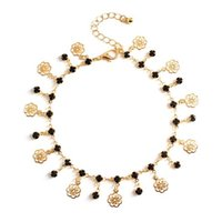 Tobilleras Rose, mariposa, flores de ciruelo Tassel Charm Oro / Plata Tono Tokle Bracelets 3 estilos