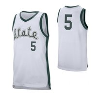 New Arrival. Cassius Winston Men s Michigan State Spartans Aaron Henry  Brock Washington Braden Burke White Stitched College Basketball Jersey 004430102