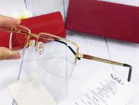 الأزياء بالجملة نظارات المعادن نصف إطار المسمار جولة الساقين النظارات البصرية البصرية الرجال الكلاسيكية بسيطة نمط الأعمال CT00870