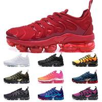nike air vapormax Plus Tn plus artı koşu ayakkabıları Üçlü siyah beyaz pembe Midnight Navy Megatron Altın tenis spor ayakkabısı erkek eğitmenler kırmızı