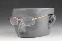 2020 빈티지 림없는 선글라스 패션 망 스포츠 선글라스 남자를위한 여성용 금속 합금 프레임 거울 여성 남성 안경을위한 클리어 렌즈