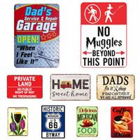 Signes Tin États-Unis Vintage signes étain métal Route 66 voiture Numéro de plaque d'immatriculation Plaque Poster Bar-club Mur Garage Accueil Décoration 30 * 20cm