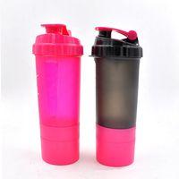 Logo Bouteille personnalisée Shaker Mélangeur boisson Bouteille d'eau agiter le flacon poudre de protéine Secouer Coupe Fitness