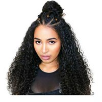 Kinky Curly Lace Front wigss Pre Plucked HD Transparent Real...