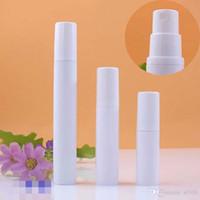 5ml 10ML 15ML mini blanco recargable plástico Pistola sin aire Botellas portátiles de Tiny maquillaje cosmético agua Pulverizador de perfume atomizador Holder Spary