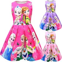 2020 Baby Girls crown girl story princes Dresses Childrens S...