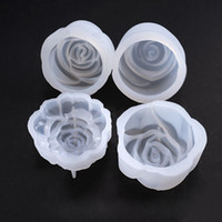 UV Resin Jewelry Liquid Silicone Molds 3D Rose Flowers Resin...