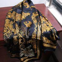 2020 diseño de marca de las bufandas de seda para las mujeres 140 * 140 cm cuadrado grande de las bufandas y chales Wraps Hijabs invierno Pashmina Beach Coverup invierno Silenciador