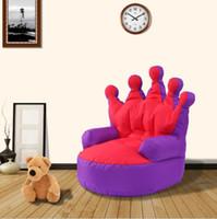 Bean Bag Корона Lounger Чехол для мебели для гостиной Диван Стулья Без Заполнения Beanbag Кровати ленивое сиденье zac дети в помещении Beanbags