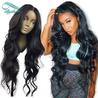 Fashion Wavy Human Hair Wigs Bleached Knots Full Lace Wigs B...