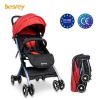 Bisrey baby stroller liviano cochecito plegable pequeño viaje avión carruaje recién nacido sillón sentado y acostado