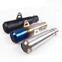 إدخال 2inch والعادم تنفيس الأنابيب DB القاتل مجددة للدراجات النارية 325mm طول الذيل المحير أنابيب الفولاذ المقاوم للصدأ النظام العالمي