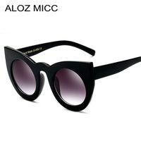 Aloz Micc Kadınlar Güneş Gözlüğü Büyük Çerçeve Ayna Gözlük Tıknaz Kedi Göz Güneş Kadınlar Marka Tasarımcısı Güneş Gözlüğü A019