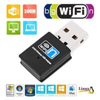 مصغرة 300 متر USB2.0 RTL8192 WIFI Dongle WiFi محول Wireless WiFi Dongle Network Card 802.11 N / G / B WI FI LAN محول
