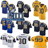 83a93f14e 2019 Super Bowl LIII Los Angeles 99 Aaron Donald Rams Jersey 16 Jared Goff 30  Todd Gurley II Mens Color Rush Limited stitched Football
