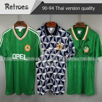 1990 1992 아일랜드 레트로 축구 유니폼 축구 셔츠 1990 93 아일랜드 국립 대표팀 유니폼 1994 월드컵 클래식 축구 셔츠