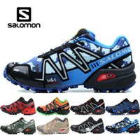 Zapatillas Salomon para hombre baratas zapatos hombre Speed ​​Cross 3CS III Sport Sneakers Men Negro al aire libre atlético Speedcross Solomon zapatos