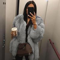Piel de mujer Faux abrigo más tamaño 5xl mujeres otoño invierno esponjoso 2021 peluche sólido manga larga cardigan cálido Outwear Outwear