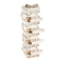 54pcs stacked high Domino digital building blocks layer casc...