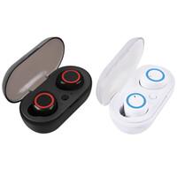 A2 TWS 이어폰 블루투스 5.0 무선 헤드셋 스포츠 핸즈프리 인 - 이어 이어폰 미니 휴대용 충전 박스
