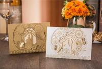 2020 الليزر الجديد قطع العروس والعريس دعوات الزفاف طباعة مخصصة فراشة فراشة زهرة بطاقات دعوة حزب مع المغلفات