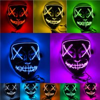 2019 New Halloween Mask LED Light Up Funny Masks The Purge E...