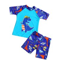 2- 11Years Kids Teen Boys Swimwear 2pcs Swim Suit( T Shirt+ T...