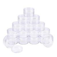 Frete grátis 20 pçs / lote 30G / 30ml elegante plástico vazio claro acrílico cosméticos creme jarro