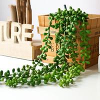2 قطعة / الكثير 97 سنتيمتر ديكور المنزل جدار النبات الاصطناعي زهرة سلسلة pu الجدار شنقا النباتات العصارة فندق جدار ديكور المنزل الملحقات