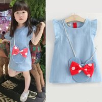 Brand Casual Baby Girl Dress Jeans Infantil Kids Clothes Fas...
