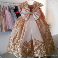 2020 Yeni Stil Balo Kızlar Pageant Elbiseler Fuşya Küçük Bebek Camo Çiçek Kız Elbise Boncuk