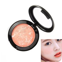 Blusher Long Lasting Shimmer Pigment Minerals Face Contour Baked Bronzer Palette Accessories JIU55