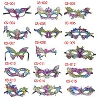 New Halloween Lace Patch Half Face Multi Function Masquerade...