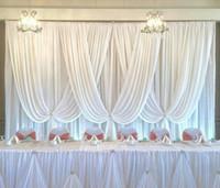 3x6 м роскошный свадебный фон чистый белый свадебный драп и занавес свадебные украшения бесплатная доставка быстрая доставка
