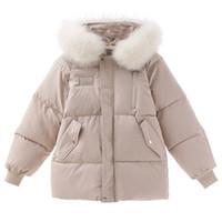 Mulheres Roupa Moda de Nova soltas Sólidos inverno quente grossa Parkas Coats capuz Blusas femininas Streetwear Casual