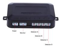 6 Farben 4 Einparkhilfe Auto Rückfahrmelder mit LCD-Display Step-up Alarm Monitor System Englisch Sprachbenachrichtigung Kostenloser Versand