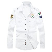 059d3bc3 Wholesale military fashion shirts online - New Designer Top Quality Embroidery  Men S Brand Clothing Men