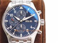 ZF Luxus Herrenuhr Chronograph Edition Le Petit Prince 377717 V2 Edelstahl Blaues Zifferblatt Swiss 7750 Automatik 28800vph Saphirglas