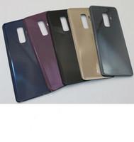 50 pezzi OEM per Samsung Galaxy S9 / S9 PLUS Sostituisci la cover posteriore in vetro dello sportello della batteria + adesivo con logo DHL gratuito