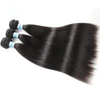 10A Grade des cheveux Trame Noir tissage de cheveux naturels Couleur Silky droite malaisienne Vierge humaine Bundles Cheveux Femme Noir Rapide Livraison gratuite