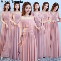 Six Style A Line Gray Bridesmaid Dress Boat Neck Off the Sho...