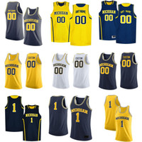 NCAA Michigan Wolverines Formalar Zavier Simpson Jersey Riko Ozuna-Harrison Teske Wagner Wilson Erkek Koleji Basketbol Özel dikişli Giyer