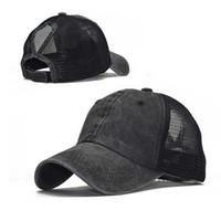 gorra de béisbol lavada marea de la manera coleta aleros curvos del acoplamiento del resorte del sombrero del casquillo y el verano deportes al aire libre femenina sombrero para el sol
